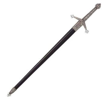 Kurzschwert Claymore mit Scheide