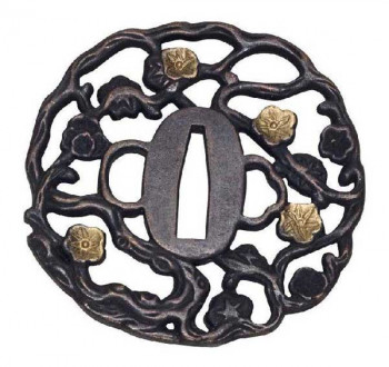 John Lee Golden Flower Tsuba
