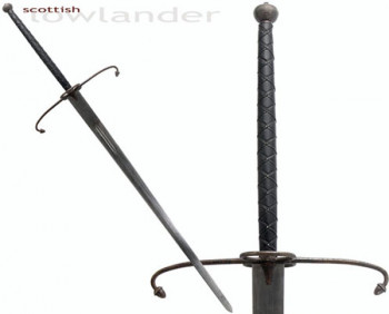 Low Lander Two Handed Great Schwert, antik