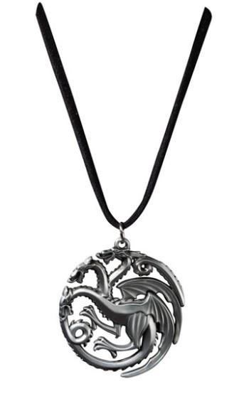 Game of Thrones Anhänger mit Kette Targaryen Sigil Costume