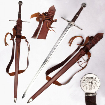 Witcher Stahl Schwert handgeschmiedet mit Gürtel und Scheide - ltd Edition 500