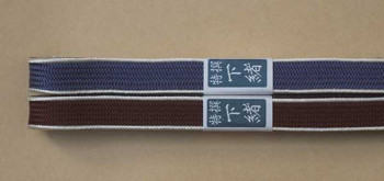 Sageo aus Seide Korai - Uragawari 180 cm für Katana