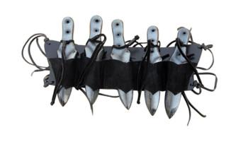 Halter für 5 Wurfmesser schwarz
