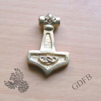 Thorhammer Anhänger aus Messing 3 x 2 cm
