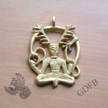 Keltischer Anhänger des Gottes Cernunos, 5,5 x 4,5 cm