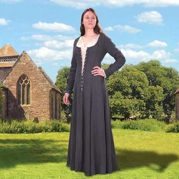 Maid Marion Blaues Kleid mit Unterkleid