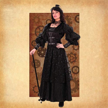 Empire Frauen Steampunk Robe, Größe L