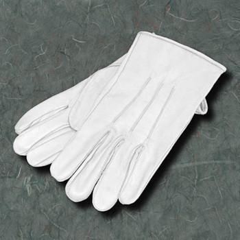 Weiße Lederhandschuhe, Größe XL