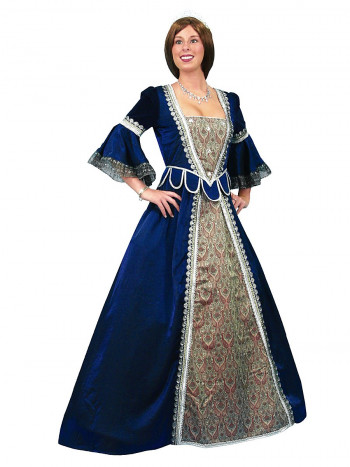 Florentiner Kleid, blau, Größe XL