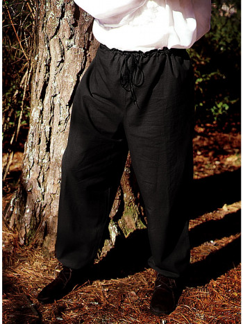 Mittelalterliche Hose schwarz, Größe M/L