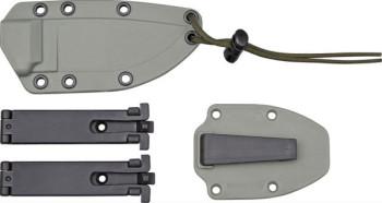 Esee Modell 3 Standardklinge mit Scheide, grüner Micartagriff