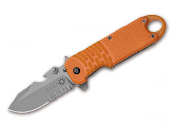Haller Taschenmesser Rescue Grau-Orange 20cm 440 Stahl Klappmesser