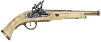 Deko-Pistole mit weißem Griff, 30 cm