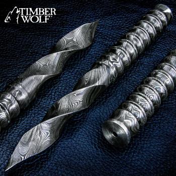 Timber Wolf Spiraldolch aus Damaszenerstahl