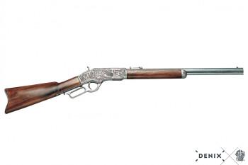 Winchester, graviert mit Holzschaft