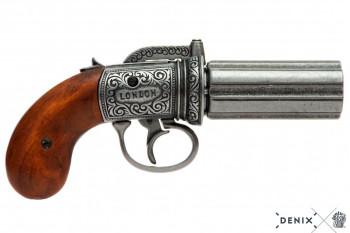 """Englische Pistole """"Pepperbox"""" Perkussion, 1815 London"""