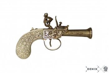 Englische Steinschlosspistole, Elfenbeinimitatgriff, 1798