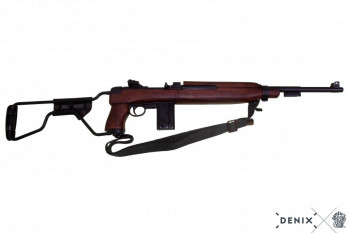 M1 A1 Karabiner, Kal. 30, USA 44, Fallschirmjäger, Kolben klappbar, mit Gurt, v. Winchester 2. WK