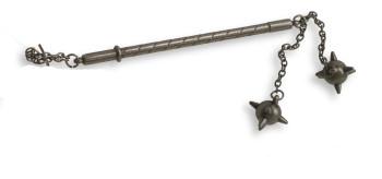 12er Set Minimorgensterne mit 2 Kugeln, grau