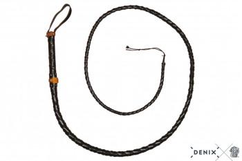 Peitsche aus schwarzem Leder