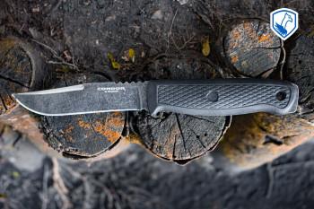 Condor Bushnecker Jagdmesser mit 8,5 cm Klinge aus 1075HC Stahl und Kydexscheide