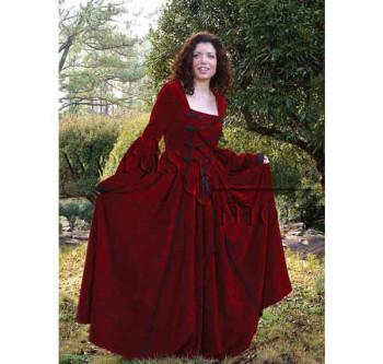 Scharlachrotes Kleid