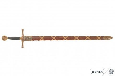 Excalibur-Schwert mit Scheide, antikgraue Klinge