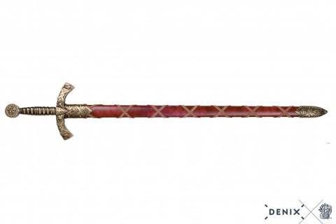 Templerschwert rote Scheide bronzefarben, 12. Jhdt