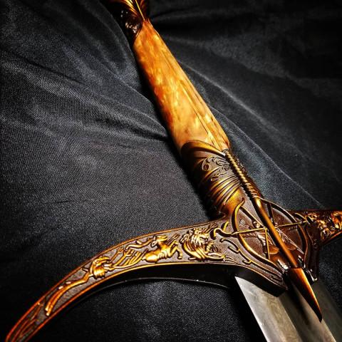 Heartsbane Schwert - Damast Edition