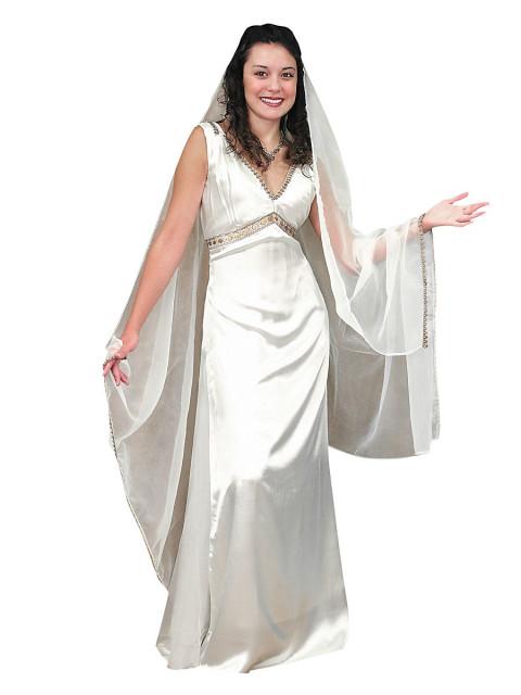 Kleid - Römische Vesta Priesterin, Größe XL
