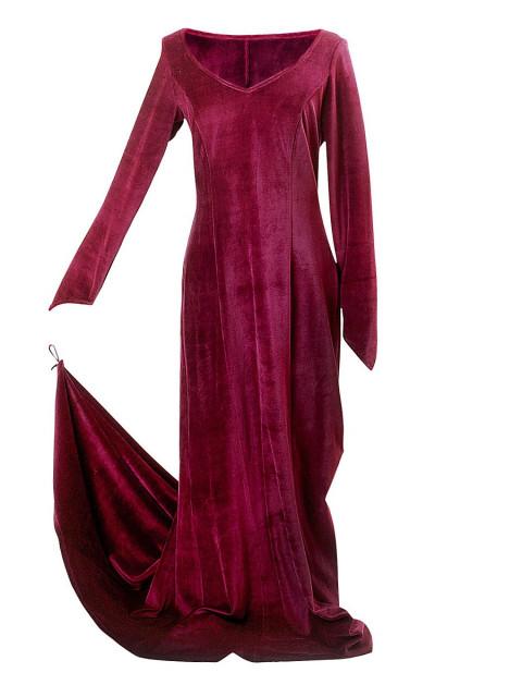 Samtkleid burgund, Größe XL