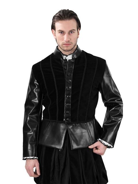 Schwarzes Samtdoublet Heinrich VIII., Größe XL