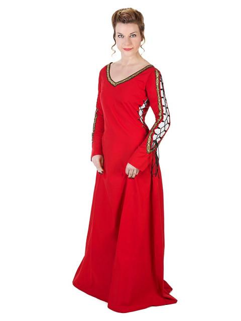 Mittelalterliches Schnürkleid rot, Größe M