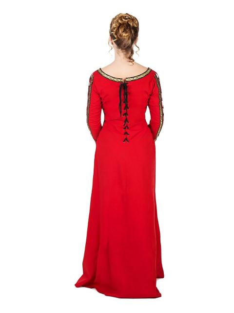 Mittelalterliches Schnürkleid rot, Größe XL