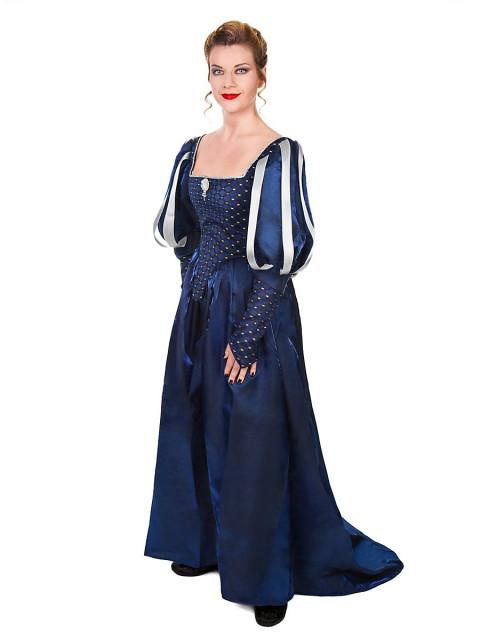Musketier Damenkleid blau, Größe XL