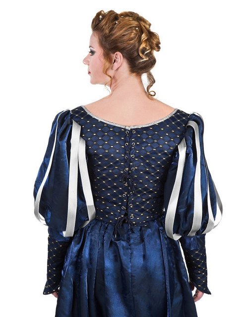 Musketier Damenkleid blau, Größe M