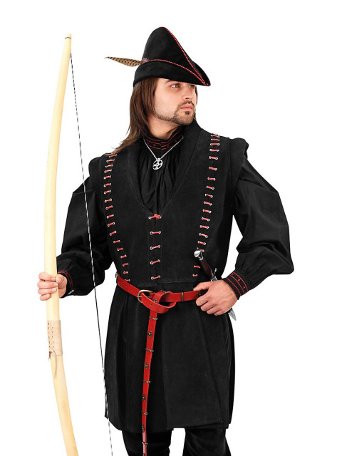 Robin Hood Doublet aus Wildleder, Größe L/XL