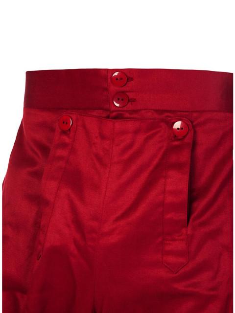 Kniehose mit Effektschnürung burgund, Größe S/M