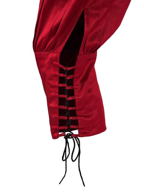 Kniehose mit Effektschnürung burgund, Größe L/XL