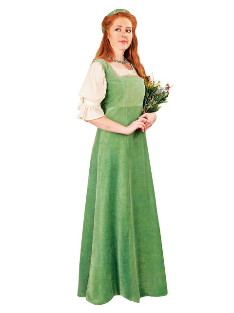 Burgherrin grün Kostüm, Größe S