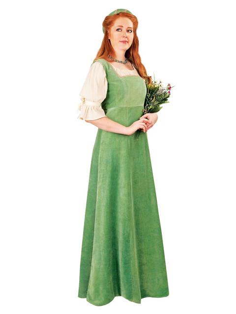 Burgherrin grün Kostüm, Größe XL