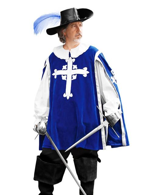 Wappenrock - Musketier, blau, Größe M/L