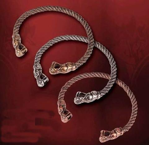 Wikinger Drachen Torque Halskette, Kupfer