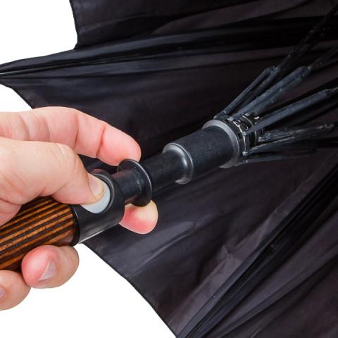 Selbstverteidigungs Regenschirm - Rundhakengriff