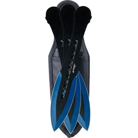 Wurfmesserset blue tip 3 tlg.