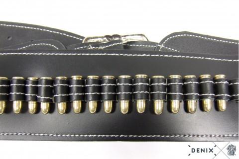 Coltgürtel aus Leder, für 1 Colt, inklusive 24 Kugeln, punziert