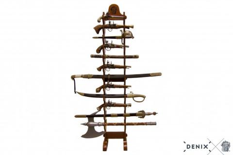 Display freistehend 24 Pistolen aus Holz