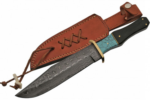Damast Bowie Messer