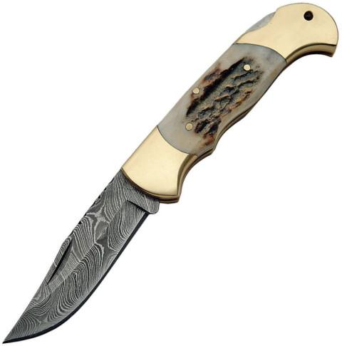 Damast Messer, Lockback Horn