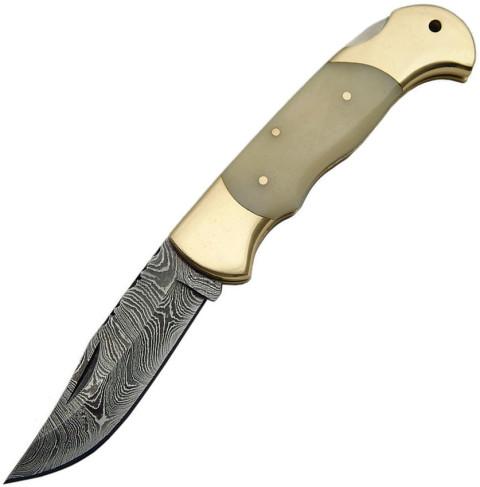 Damast Messer, Lockback Knochen